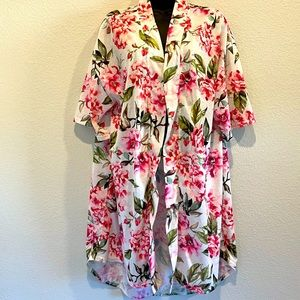 Show me your Mumu Pink Floral Robe / Hospital Gown Size One Size ~ Missing Belt